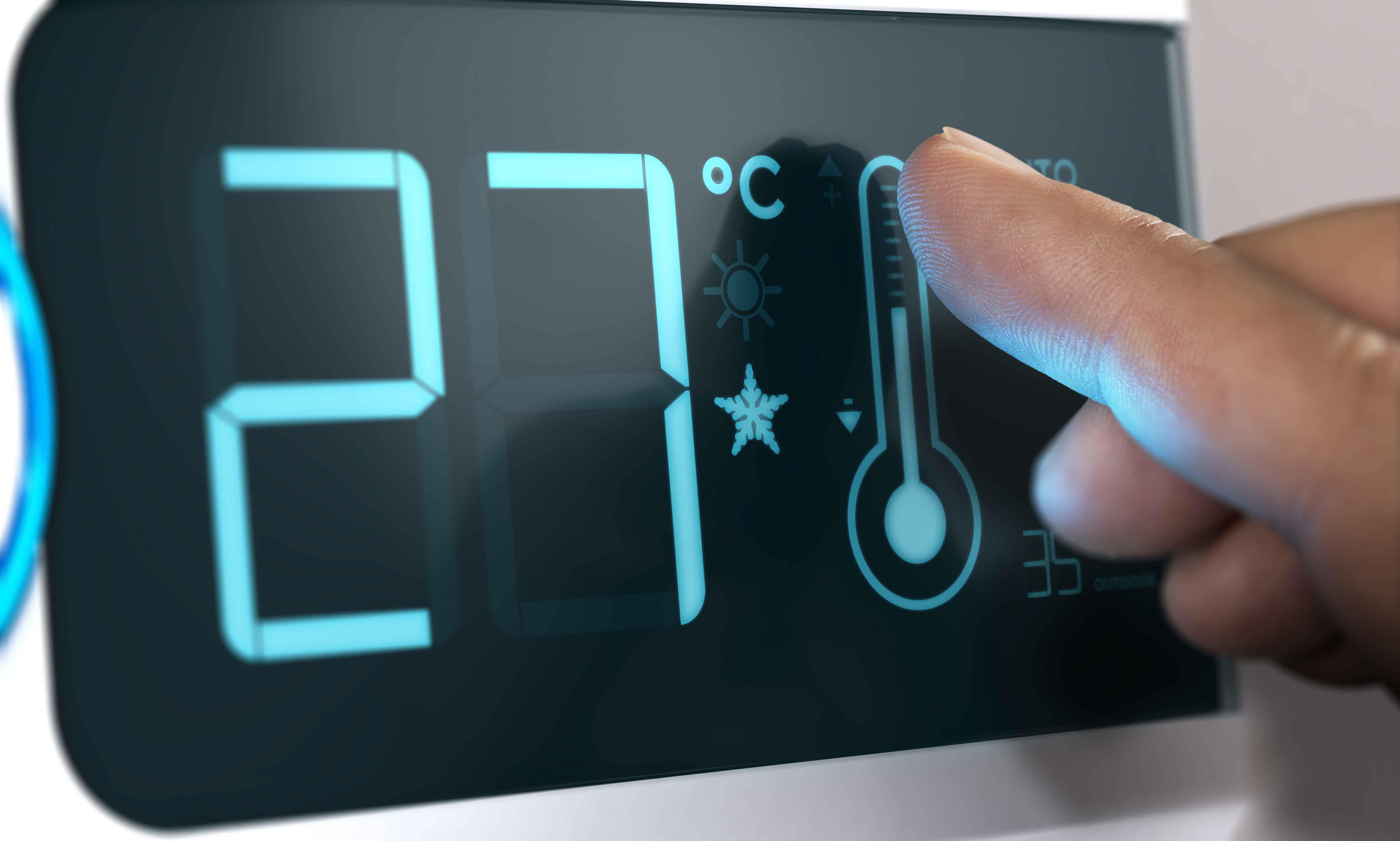Pantalla táctil con temperatura regulable