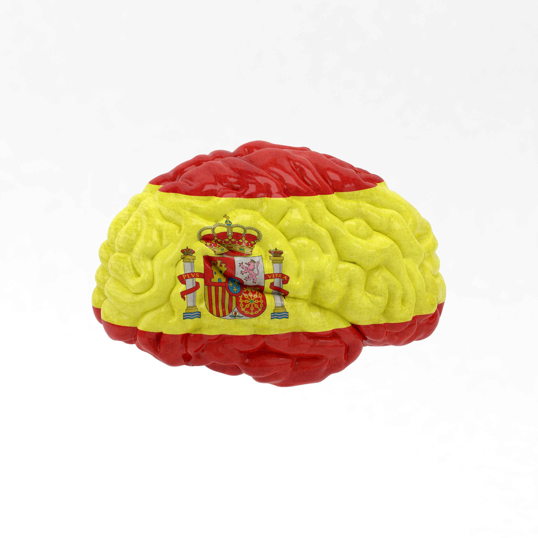 Cerebro con la bandera española