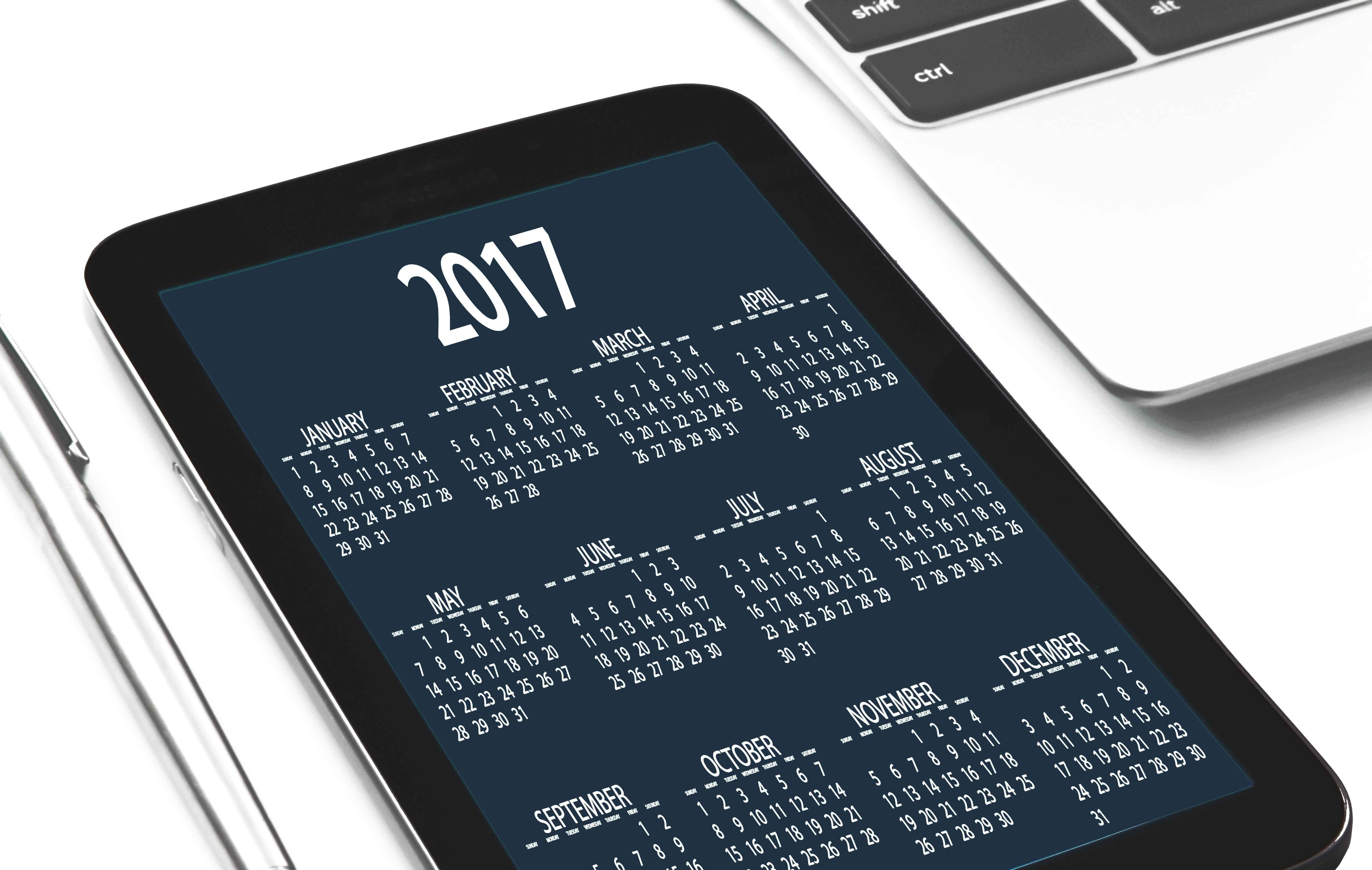 Tablet con agenda