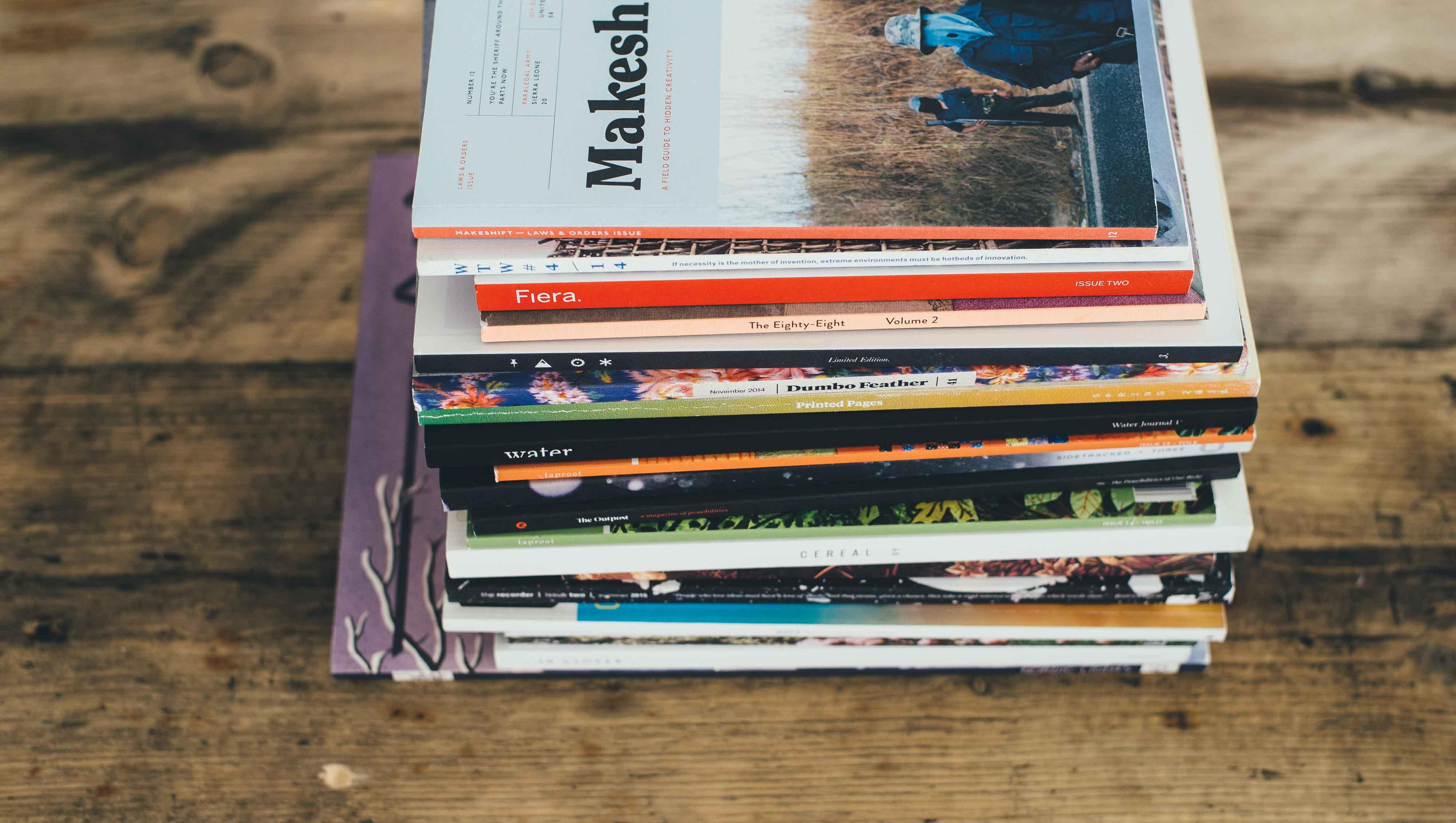 Columna de revistas