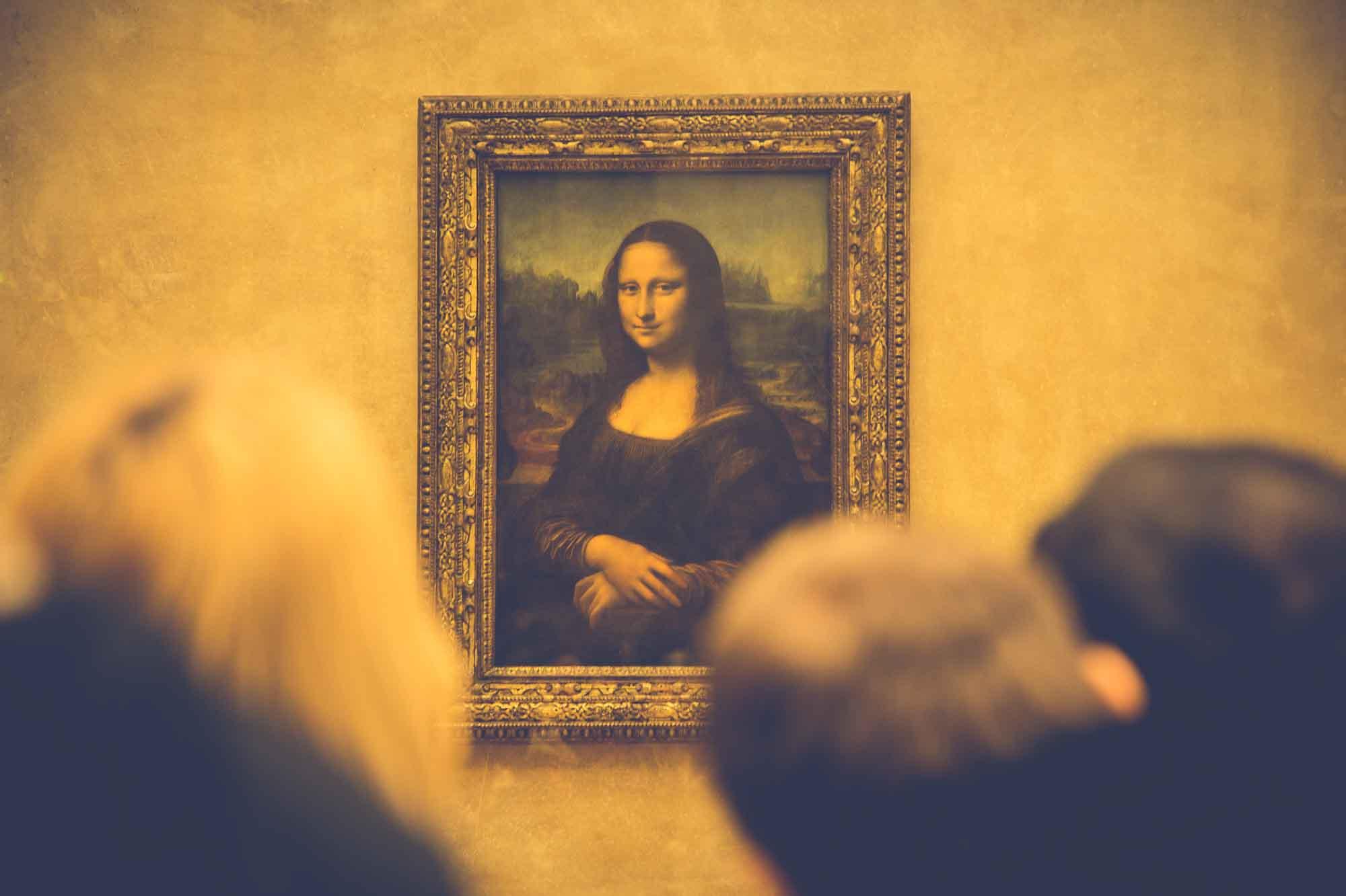 Foto del cuadro de la Mona Lisa de Leonardo Da Vinci